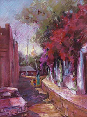 Sonora Painting - Early Mass by Joan  Jones