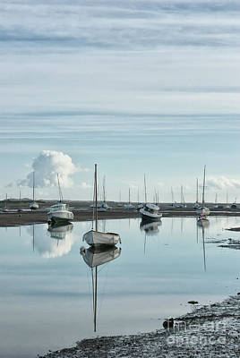 Water Vessels Photograph - Early Morning At Brancaster Staithe Norfolk Uk by John Edwards