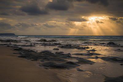 Porto Photograph - Early Morning Beach Stroll by Chris Fletcher