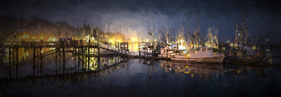 Art In Nature Digital Art - Early Morning Harbor IIi by Jon Glaser