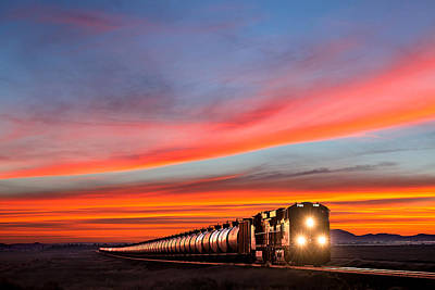 Locomotive Photograph - Early Morning Haul by Todd Klassy