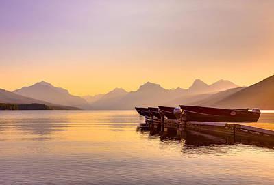 Early Morning On Lake Mcdonald Print by Adam Mateo Fierro
