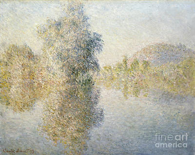 American Artist Painting - Early Morning On The Seine At Giverny by Celestial Images