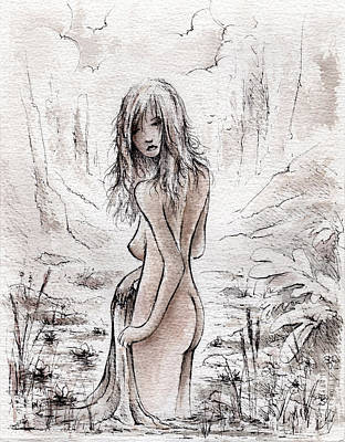 Nude Children Drawing - Early Morning by Rachel Christine Nowicki