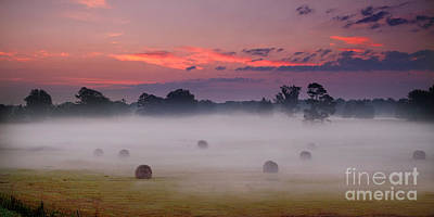 Early Morning Sunrise On The Natchez Trace Parkway In Mississippi Print by T Lowry Wilson