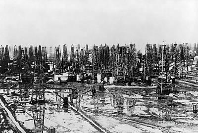 Early Oil Field Print by Granger