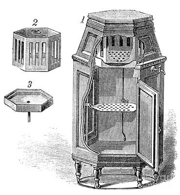 Early Refrigerator, 19th Century Print by Spl