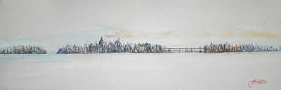 New York City Skyline Painting - Early Skyline by Jack Diamond