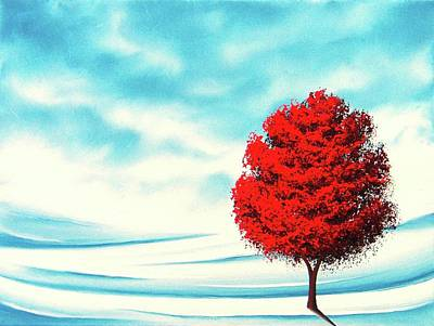 Autumn Landscape Painting - Early Snow by Rachel Bingaman