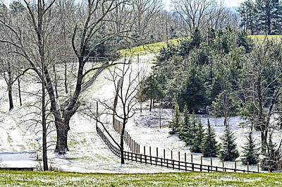 Early Winter Pasture Print by Susan Leggett