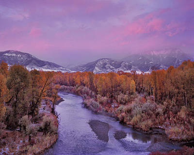 Winter Sunset Photograph - Early Winter Sunset by Leland D Howard