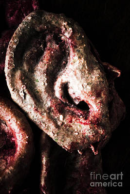 Serial Killer Photograph - Ears And Meat Hooks  by Jorgo Photography - Wall Art Gallery