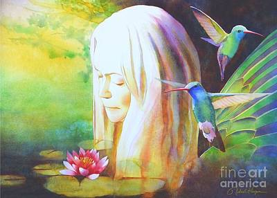 Hummingbird Painting - Earth Angel by Robert Hooper