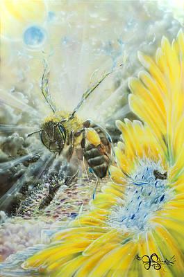 Earth Angels Flight Plan Bee Print by Joel Salinas III