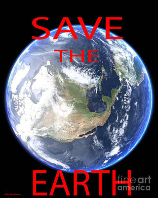 Save The Earth Print by Jerome Stumphauzer