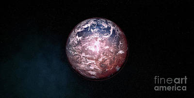 Exoplanet Mixed Media - Earth Like Exoplanet From Another Solar System. by Sasa Kadrijevic
