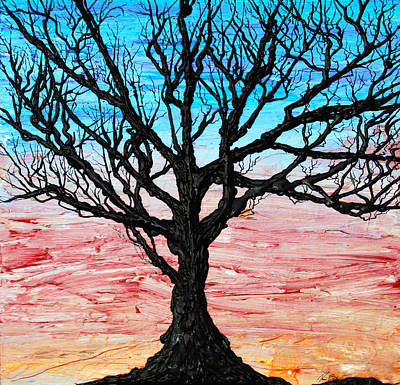 Tree Roots Painting - Earth Poem by Ryan Burton