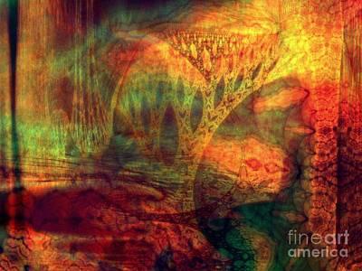 Gaia Digital Art - Earth Song 12 by Helene Kippert