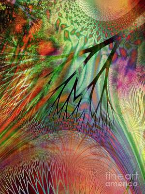 Gaia Digital Art - Earth Song 6 by Helene Kippert