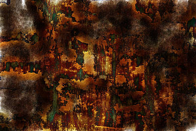 Sienna Painting - Earth Tones by Frank Tschakert