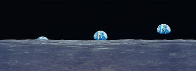 Earth Viewed From The Moon Print by Panoramic Images