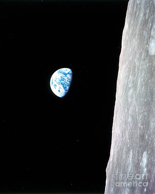 Photograph - Earthrise From Apollo 8 by Nasa