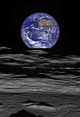 Earth From Space Photograph - Earthrise by Mark Kiver