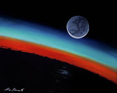 Earthshine Original by Ron Garan
