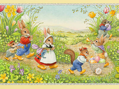 Easer Parade Print by Lynn Bywaters