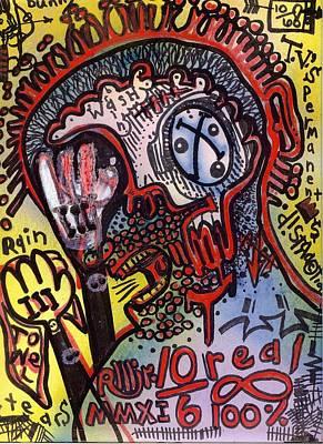 Folk Art Mixed Media - Easily Distracted by Robert Wolverton Jr