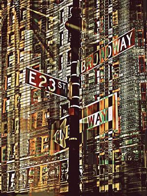 Teosanta Mixed Media - East 23rd And Broadway by Teodoro De La Santa