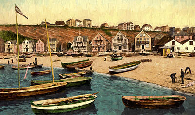 Antiquity Painting - East Beach by John K Woodruff