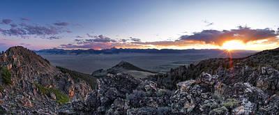 East Central Idaho Sunset Print by Leland D Howard