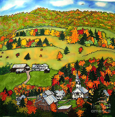 East Corinth Village Print by Linda Marcille