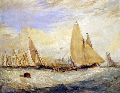 Ocean Painting - East Cowes Castle, The Regatta Beating To Windward by JMW Turner