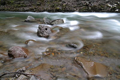 Snow Melt Photograph - East Fork Of The Hood River by Jeff Swan
