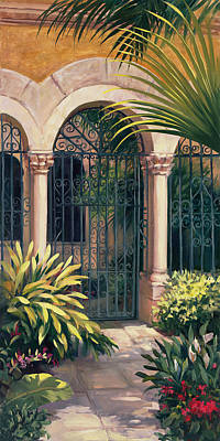 Grounds For Painting - East Gate by Laurie Hein