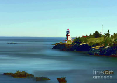 East Quaddy Lighthouse Print by Arnie Goldstein