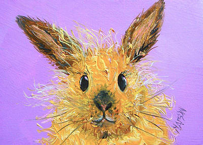 Girl Painting - Easter Bunny  Painting - Poppy by Jan Matson