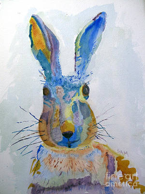 Wildlife Celebration Painting - Easter Bunny by Sandy McIntire