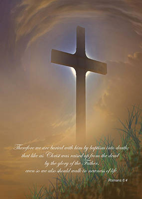 Bible Verse Photograph - Easter Message by David and Carol Kelly