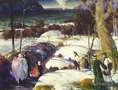 Snowy Trees Painting - Easter Snow by George Wesley Bellows
