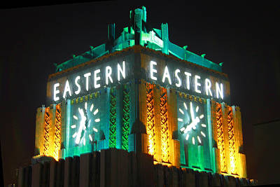 Eastern Columbia Clock Print by Shoal Hollingsworth