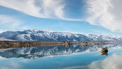 Winter Scenes Photograph - Eastern Sierra Nevada At Mono Lake by Joseph Smith