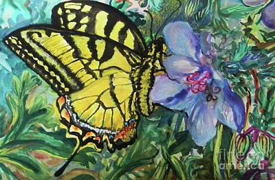 Blue Swallowtail Drawing - Eastern Tiger Swallowtail by Emily Michaud