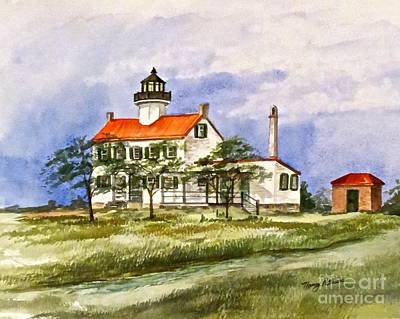 Cumberland River Painting - East Point Lighthouse Glory Days  by Nancy Patterson