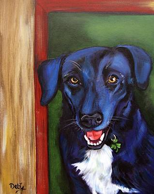 Lucky Dogs Painting - Eastwood by Debi Starr
