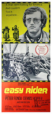 Jack Nicholson Photograph - Easy Rider Movie Lobby Poster  1969 by Daniel Hagerman
