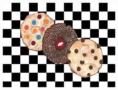 Raspberry Mixed Media - Eat Cookies by Kathleen Sartoris