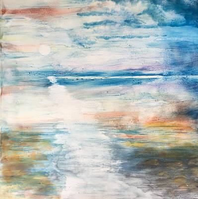 Encaustic Painting - Ebb Tide by Kyle Evans